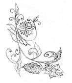 Hand drawn ornament — Stock Photo