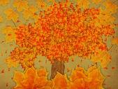 Papper med höstens träd — Stockfoto