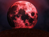Red moon rises — Stock Photo