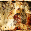 Vintage violin background — Stock Photo