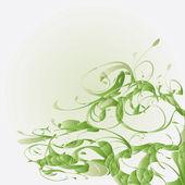 зеленый цветочный — Cтоковый вектор