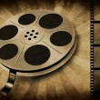 Movie reel on vintage — Stock Photo #14560541