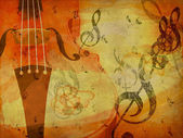 Grunge violin background — Photo