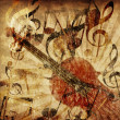 Vintage violin background — Stock Photo #14614899