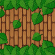 Leaves over wooden planks — Stock Photo
