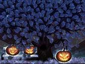хэллоуин ночь дуб — Стоковое фото