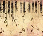 Vintage piano background — Stock Photo