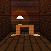 Arbeitszimmer mit tisch — Stockfoto