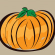 Colorful pumpkin illustration — Stock Vector