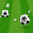 Two soccer ball smilies — Stock Photo