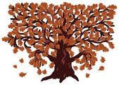 Autumn oak tree — Stock Vector