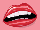 Red lips — Stock Vector