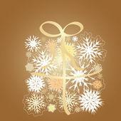 Snowflake gift box — Stock Vector