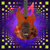 Music background with guitar — Stock Photo