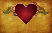 Heart on grunge background — Stock Photo