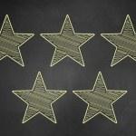 Пять звезд рейтинги — Стоковое фото