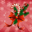 Grunge christmas candy cane pink background — Stock Photo
