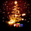 Magic Chrismas tree of stars — Photo