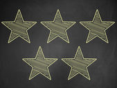 Five stars ratings — Stock Photo
