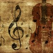 Vintage musical violin background — Stock Photo