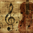 Stock Photo: Vintage musical violin background