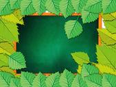 用树叶黑板 — 图库照片