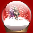 Royalty-Free Stock Photo: Christmas snow globe with fairy