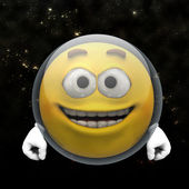 Astronaut smiley — Stockfoto