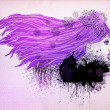 Purple hair girl illustration - Stock Photo