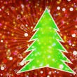 图库照片: Christmas tree applique