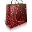 Valentines shopping bag — Stock Photo