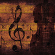 Vintage musical background with violin — Stock Photo