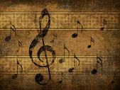 Vintage musical background — Stock Photo
