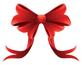 Holiday red bow — Stock Vector