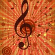 Vintage red music background — Stock Photo
