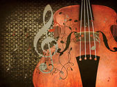 Vintage violin music background — Stock Photo