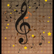 Stock Photo: Vintage music background with flourish