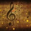 Vintage music floral background — Stock Photo #16620715