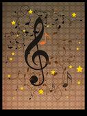 Ročník hudební pozadí s rozmachem — Stock fotografie
