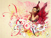 Abstract floral fairy — Stock Photo