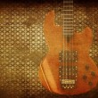 Vintage music guitar background — Stock Photo