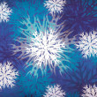 Vintage snowflakes blue background — Stock Photo
