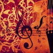 Violin floral background — Stock Photo
