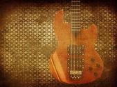 Vintage music guitar background — 图库照片