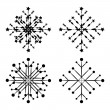 Stock Vector: Abstract snowflakes