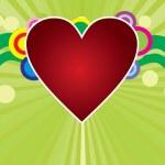 coração sobre fundo verde — Vetorial Stock