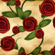 Roses on grunge paper — Stock Photo #17367081