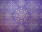 Vintage snowflakes violet background — 图库照片