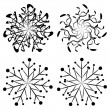 Abstract snowflakes — Stock Vector