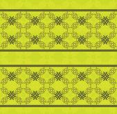 绿色花卉花边图案 — 图库矢量图片
